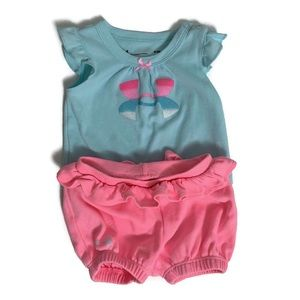 🌸2 for $25🌸 Under Armour baby girl set